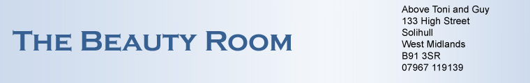 The Beauty Room Logo and Address Heading Banner